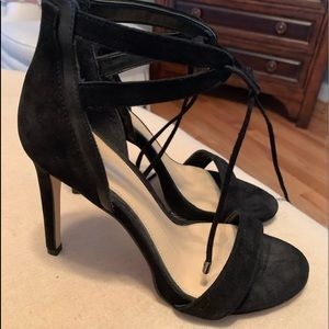 Black strapped shoes
